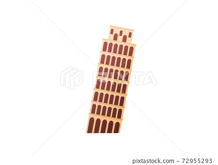 One of seven wonders, Leaning Tower of Pisa 72955293