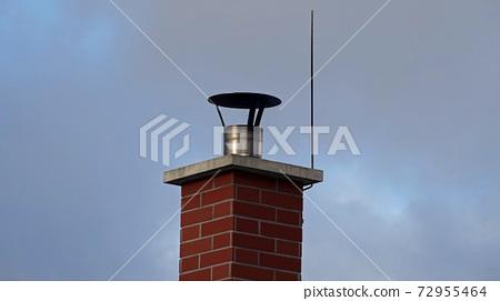 Brick chimney and lightning conductor 72955464