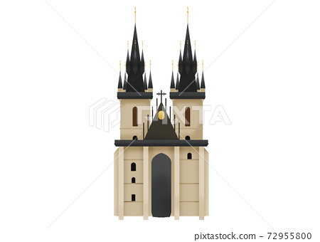 A Gothic church from old town in Prague Czech Republic 72955800