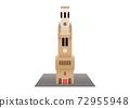 A medieval bell tower in Bruges Belgium, Belfry of Bruges 72955948
