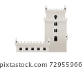 A lankmark nearby the sea in Lisbon Portugal, Belem Tower 72955966