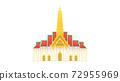 A famous landmark from Bangkok Thailand, Grand Palace 72955969