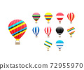 A group of colorful hot air balloons over the sky 72955970
