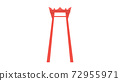 A red traditional giant swing from Bangkok Thailand 72955971