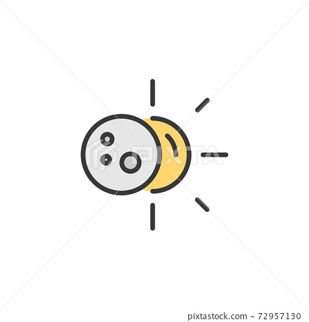 Sun eclipse. Filled color icon. Weather vector illustration 72957130
