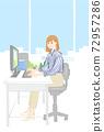 文書工作女性OL 72957286