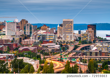 Tacoma, Washington, USA Skyline 72959863