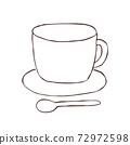 簡單的手繪框架[咖啡杯] 72972598