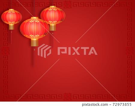Chinese red lantern 72973855