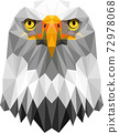 Eagle head in triangle cubes, an American symbol 72978068