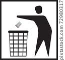 Trash in the trashbin 72980317