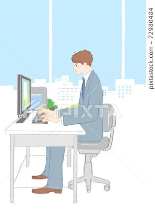 文書工作男性工資 72980484