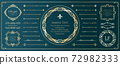 豪华框架设计名片设计 72982333