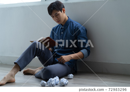 Man sadness, writer 72983296