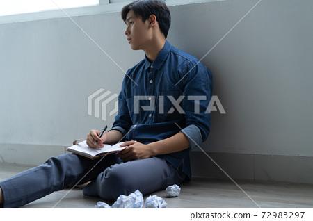 Man sadness, writer 72983297