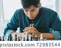 Man playing chess 72983544