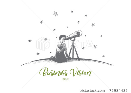 Business vision concept. Hand drawn isolated vector. 72984485