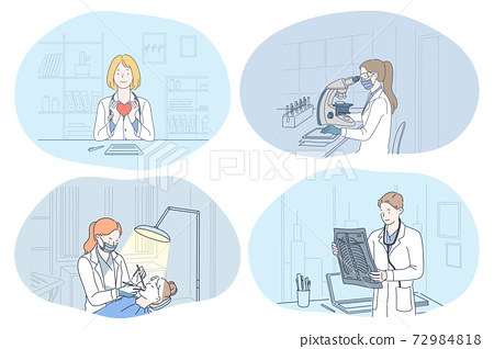 X-ray in medicine, dentistry, laboratory, surgery concept 72984818