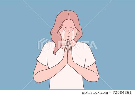 Religion, praying, begging concept 72984861