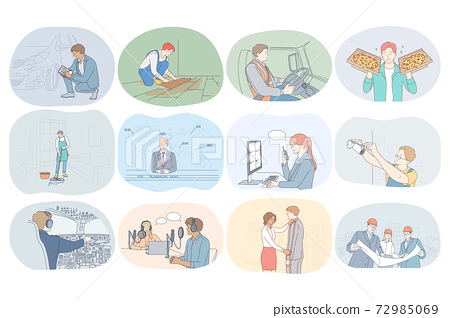 Professions, occupation, work, job, specialists, labor, business concept 72985069