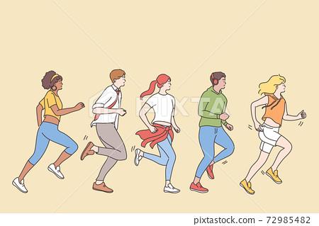 Competition, quick lifestyle, challenge concept 72985482