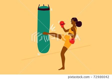 Sport, strength, fight, training, fitness concept 72986042