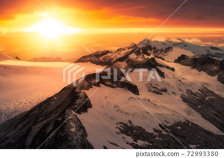 Beautiful aerial landscape view on the rocky mountains 72993380