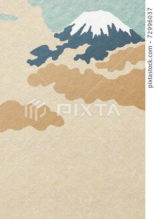 Illustration material Mt. Fuji Japanese paper Japanese style 72996037