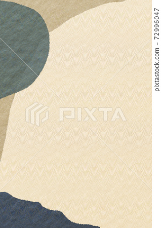 Illustration material abstract abstract Japanese style Japanese paper background material Japanese pattern Qinghai wave pattern 72996047