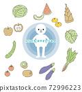 使身體涼爽的食物 72996223