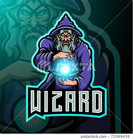 Wizard esport mascot logo design 72999438