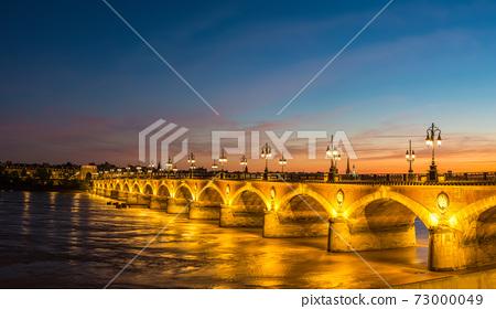 Old stony bridge in Bordeaux 73000049
