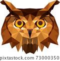Owl head in Illustrator 73000350