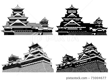 熊本城大城堡塔和小城堡塔 73004677
