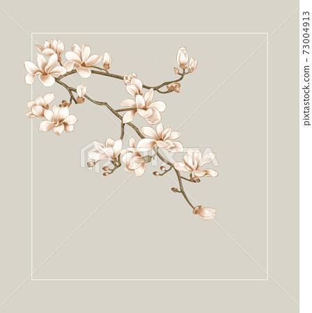 色彩豐富的花卉素材組合和設計元素 73004913