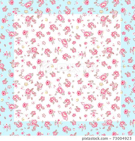 色彩豐富的花卉素材組合和設計元素 73004923