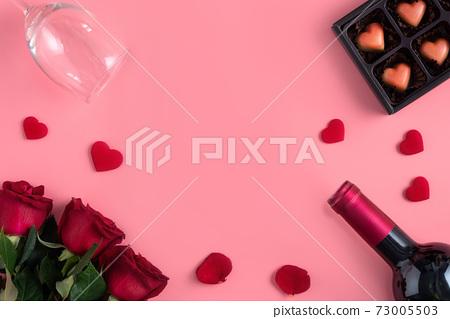 情人節 花束 約會 紅酒 大餐 Valentine's Day Dating バレンタイン 73005503