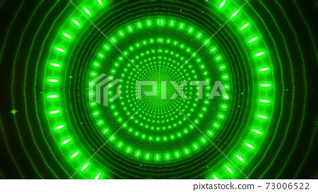 Green neon particles green glowing design tunnel 3d illustration background wallpaper design artwork 73006522