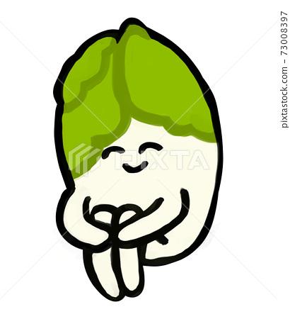 蔬菜性格可愛白蔬菜體操坐 73008397