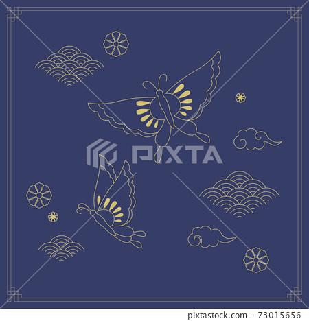 Korean Traditional Illustration-Butterfly 73015656