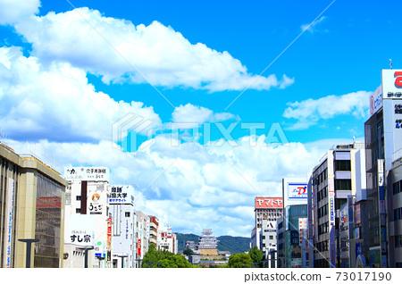 Himeji City, Himeji City Cityscape and Himeji Castle Scenery 73017190