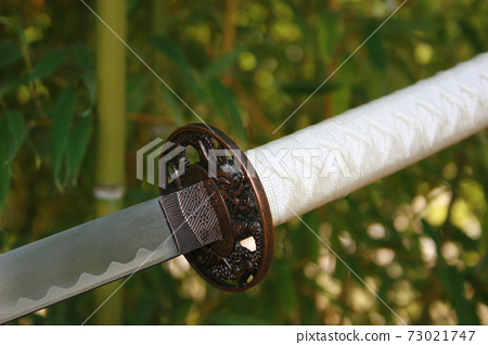 Katana Sword and Bamboo 73021747