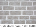 Grey brick wall imitation texture. White and beige plaster background. 73031608