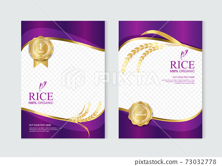 Rice food or thai food, banner and poster template vector design. 73032778