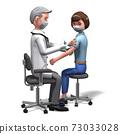 코로나 바이러스의 백신을 주사하는 의사 2 73033028