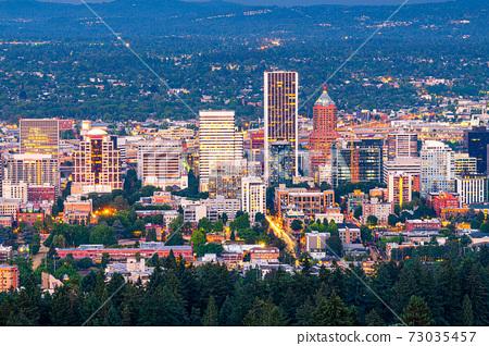 Portland, Oregon, USA Downtown 73035457