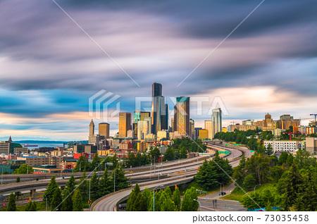 Seattle, Washington, USA Downtown Skyline 73035458