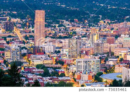 Portland, Oregon, USA Downtown 73035461