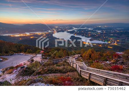Hiawassee, Georgia, USA in Early Autumn 73035462