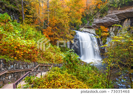 Looking Glass Falls in Pisgah National Forest 73035468